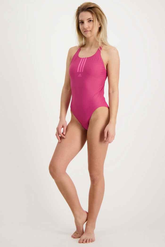 adidas Performance SH3.RO Mid 3-Streifen Damen Badeanzug Farbe Pink 1