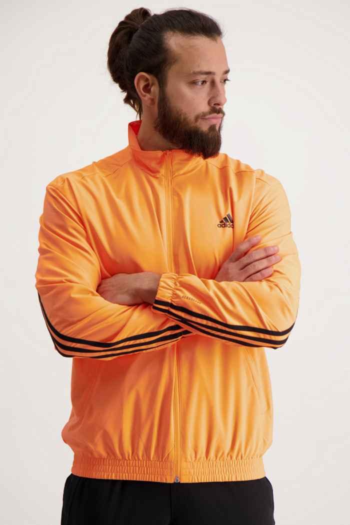 adidas Performance Sportswear Woven 3S Herren Trainingsjacke 1