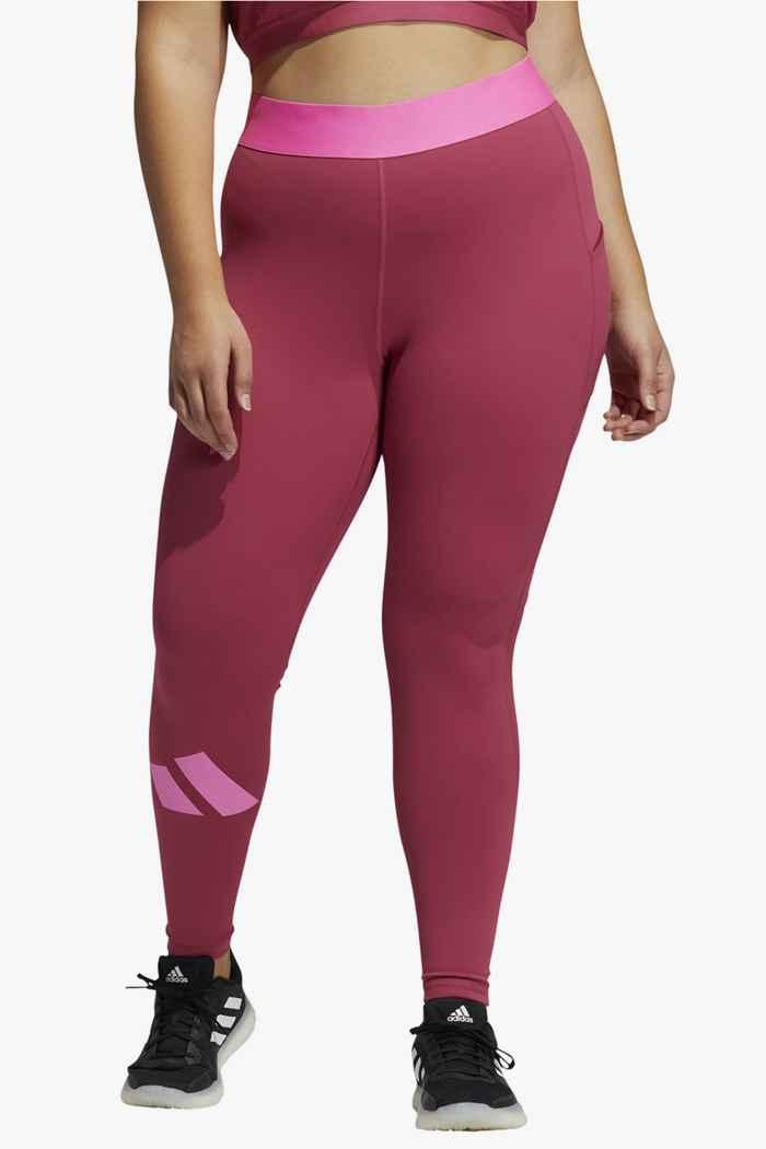 adidas Performance Techfit Life Plus Size Damen Tight Farbe Pink 1