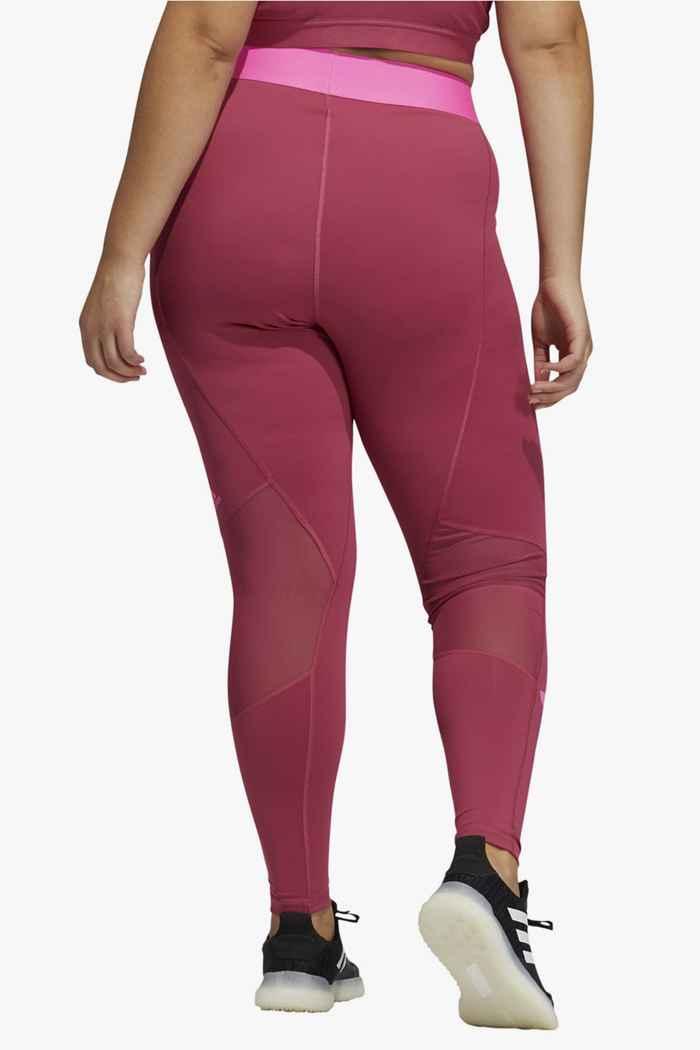 adidas Performance Techfit Life Plus Size Damen Tight Farbe Pink 2