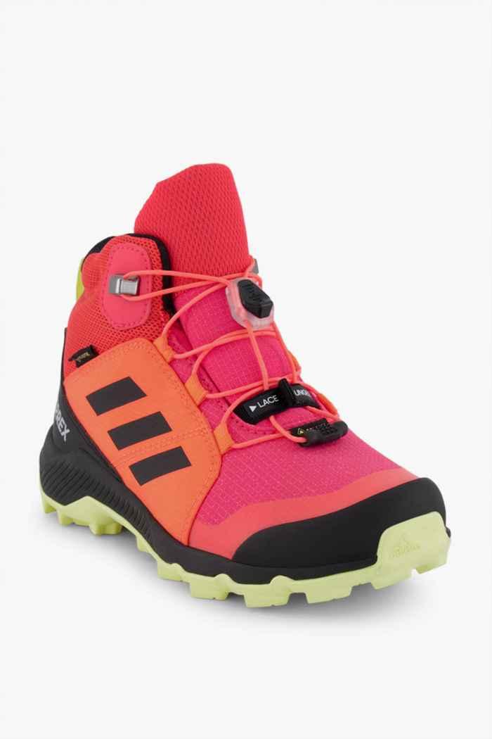 adidas Performance Terrex Mid Gore-Tex® chaussures de randonnée enfants Couleur Rouge 1