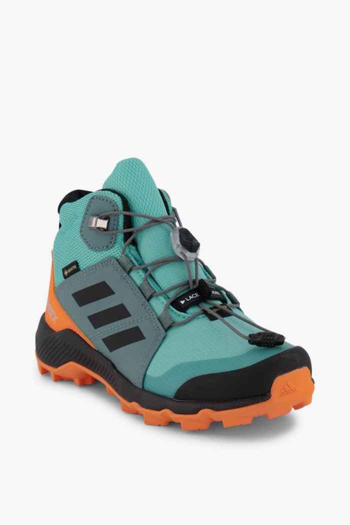 adidas Performance Terrex Mid Gore-Tex® Kinder Wanderschuh Farbe Blau 1