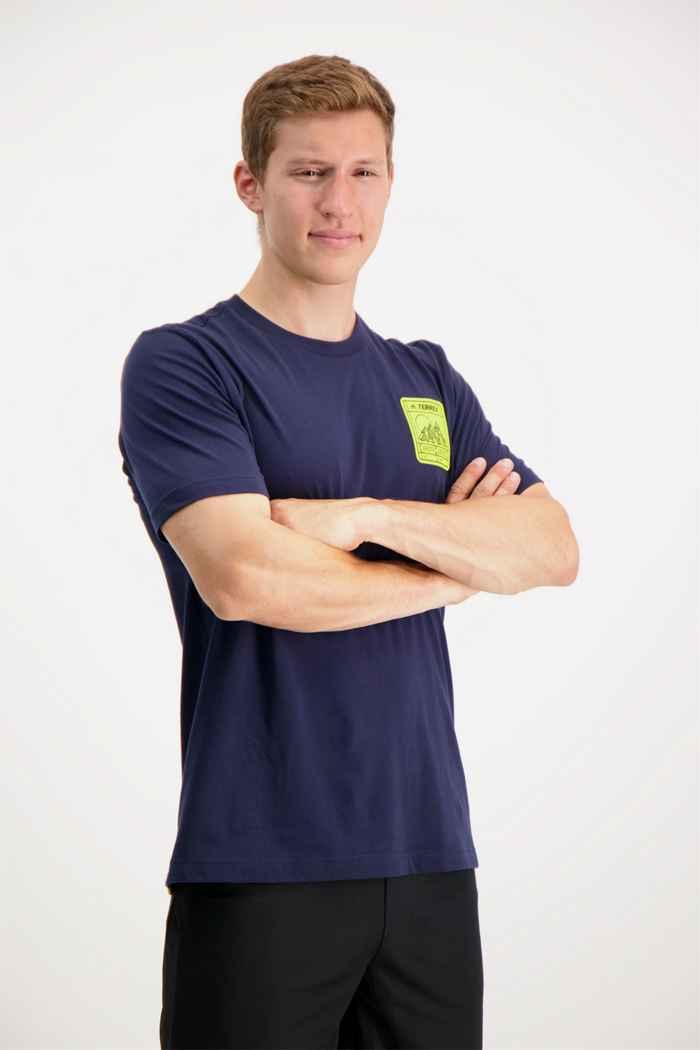 adidas Performance Terrex Patch Mountain Graphic Herren T-Shirt 1