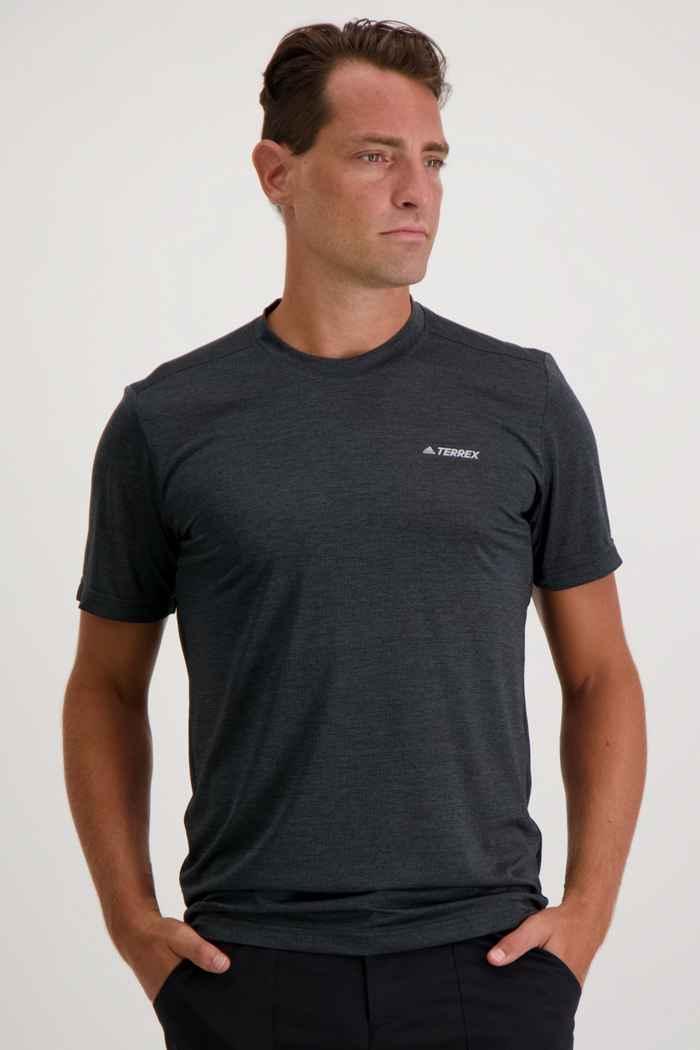 adidas Performance Terrex Tivid Herren T-Shirt Farbe Anthrazit 1