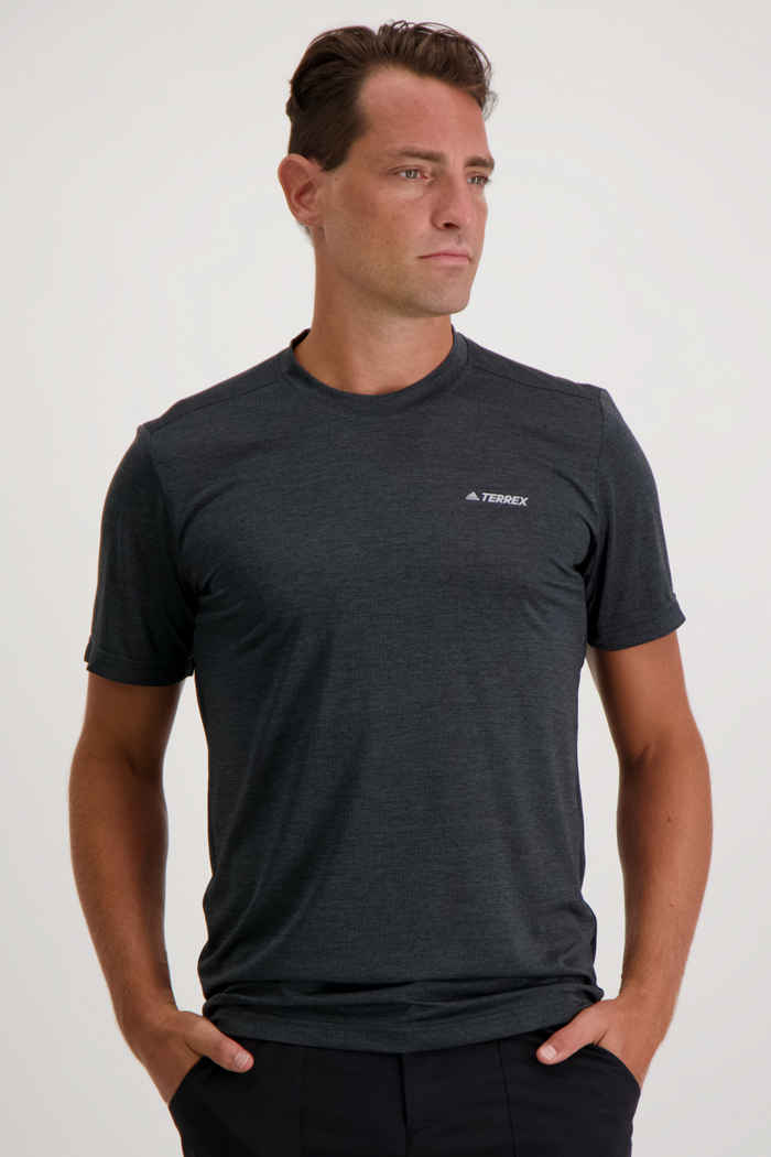 adidas Performance Terrex Tivid t-shirt hommes Couleur Anthracite 1