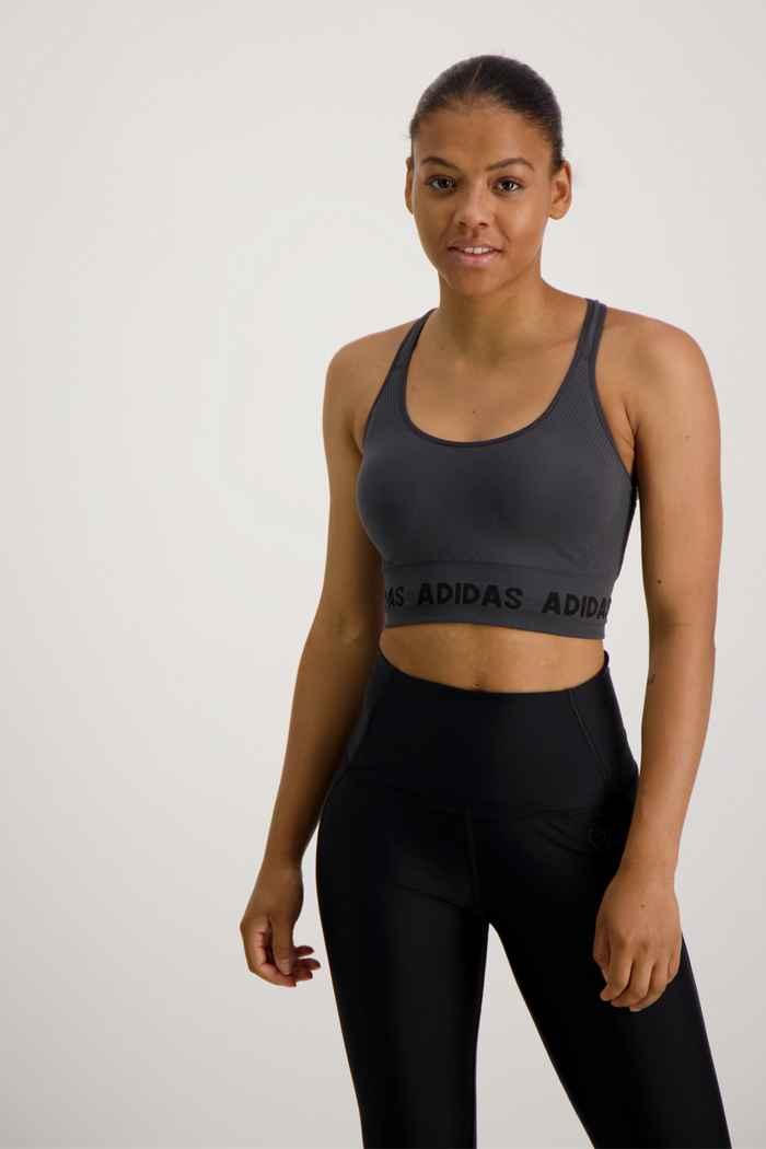 adidas Performance Training Aeroknit soutien-gorge de sport femmes Couleur Anthracite 1