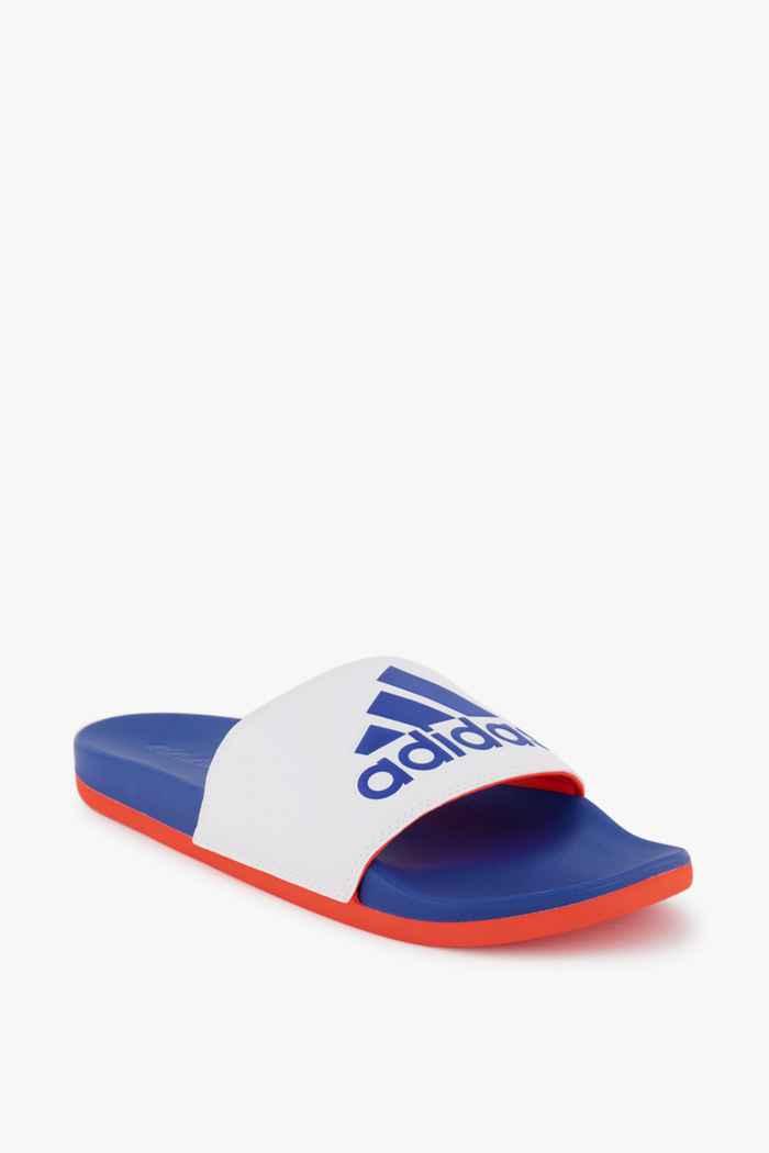 adidas Sport inspired Adilette Comfort slipper hommes Couleur Blanc/bleu 1
