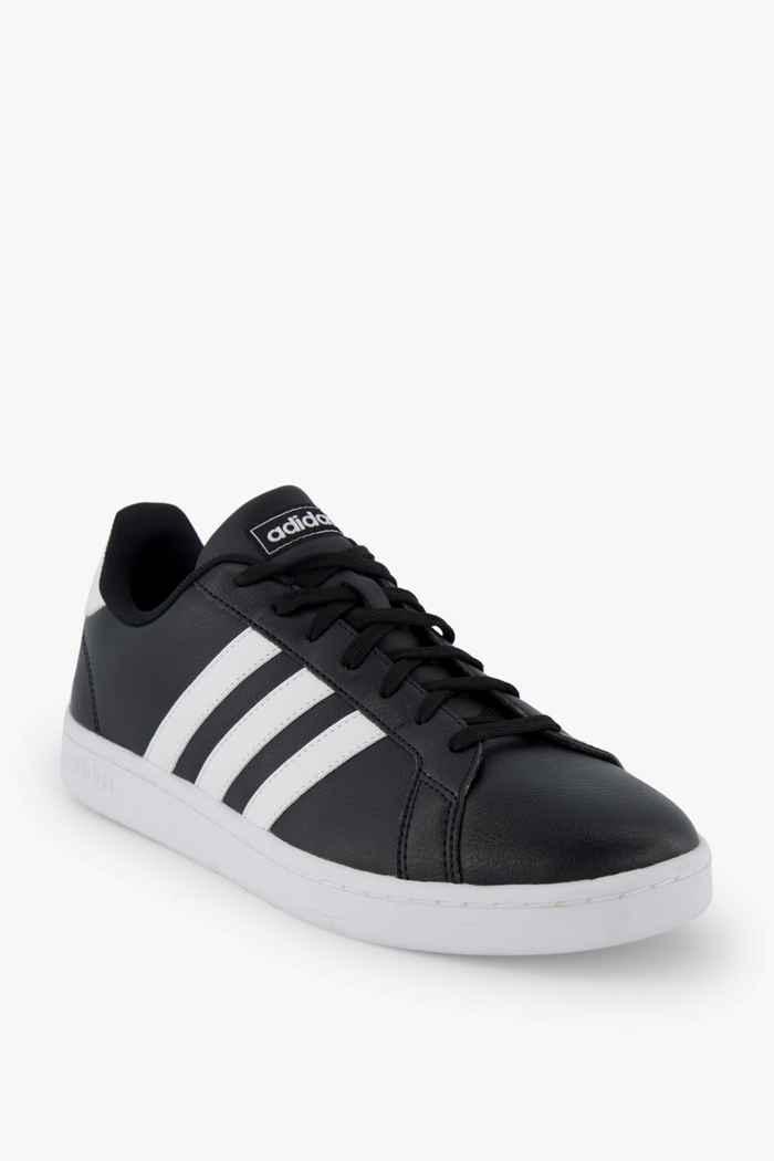 adidas Sport inspired Grand Court Damen Sneaker Farbe Schwarz-weiß 1