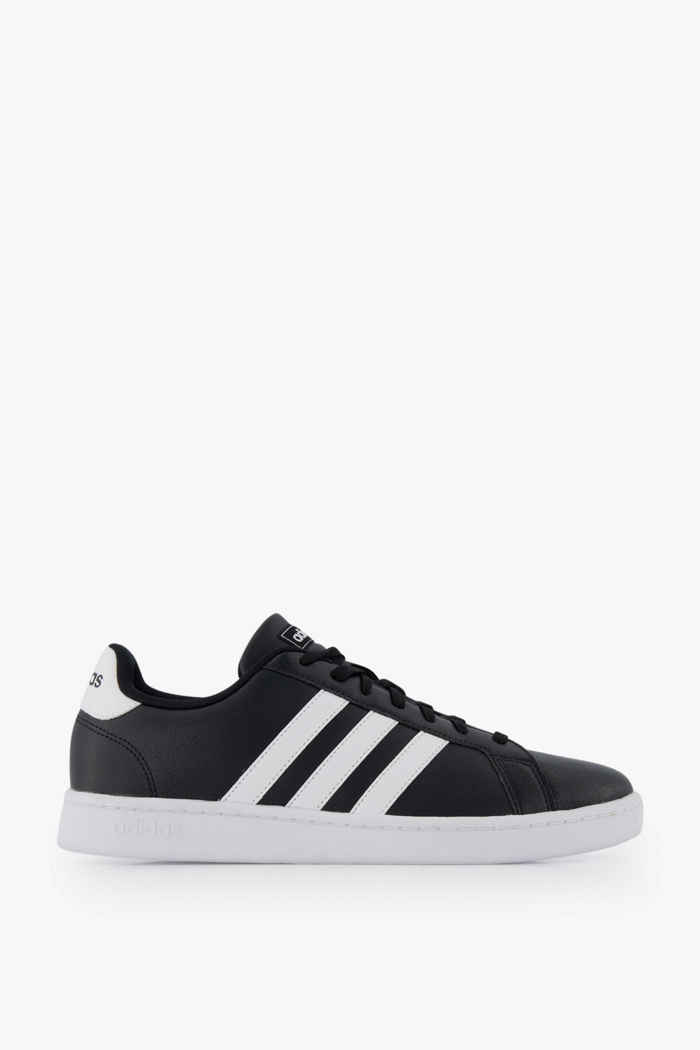 adidas Sport inspired Grand Court Damen Sneaker Farbe Schwarz-weiß 2