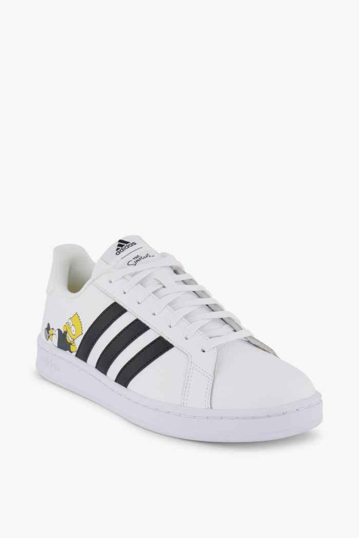 adidas Sport inspired Grand Court Simpsons Herren Sneaker Farbe Schwarz-weiß 1