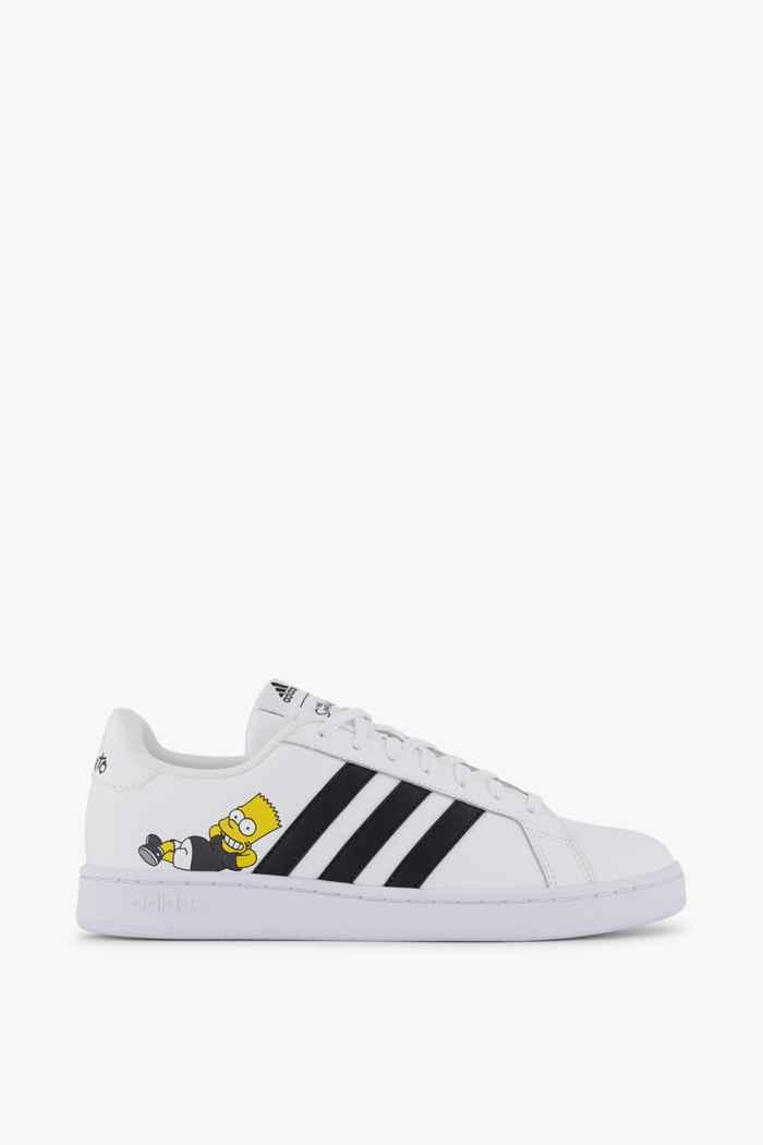 adidas Sport inspired Grand Court Simpsons sneaker hommes Couleur Noir-blanc 2