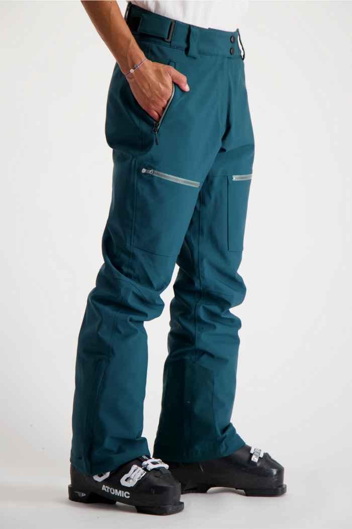 Albright Andermatt Damen Skihose Farbe Dunkelgrün 1