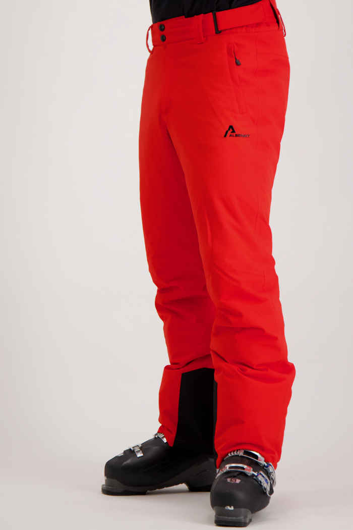 Albright St.Moritz pantalon de ski hommes Couleur Rouge 2