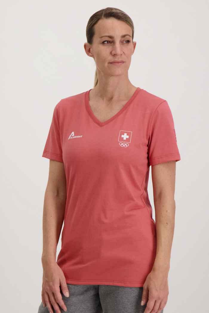 Albright Swiss Olympic Damen T-Shirt Farbe Rot 1