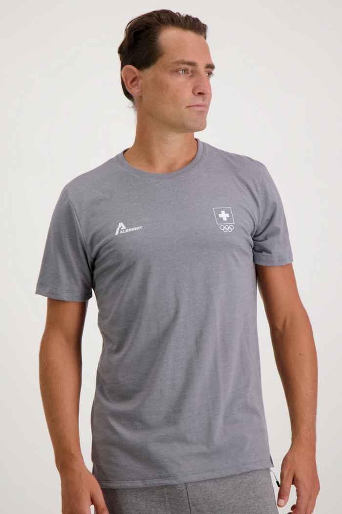 Albright Swiss Olympic Herren T-Shirt Farbe Grau 1