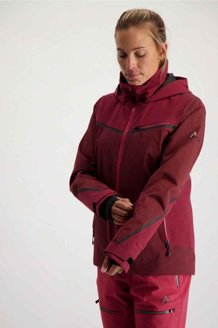 Albright Verbier Damen Skijacke Farbe Bordeaux 1