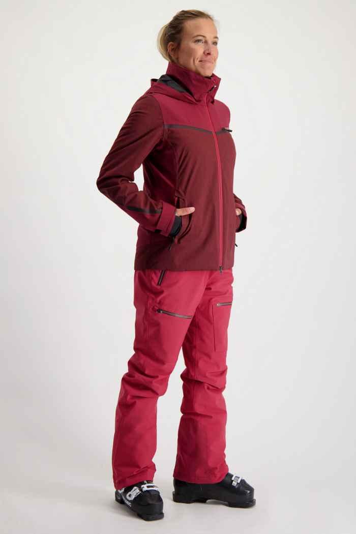 Albright Verbier Damen Skijacke Farbe Bordeaux 2