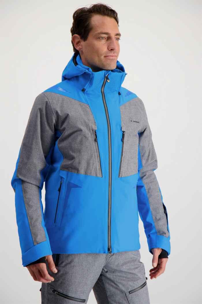 Albright Zermatt Herren Skijacke Farbe Blau-grau 1