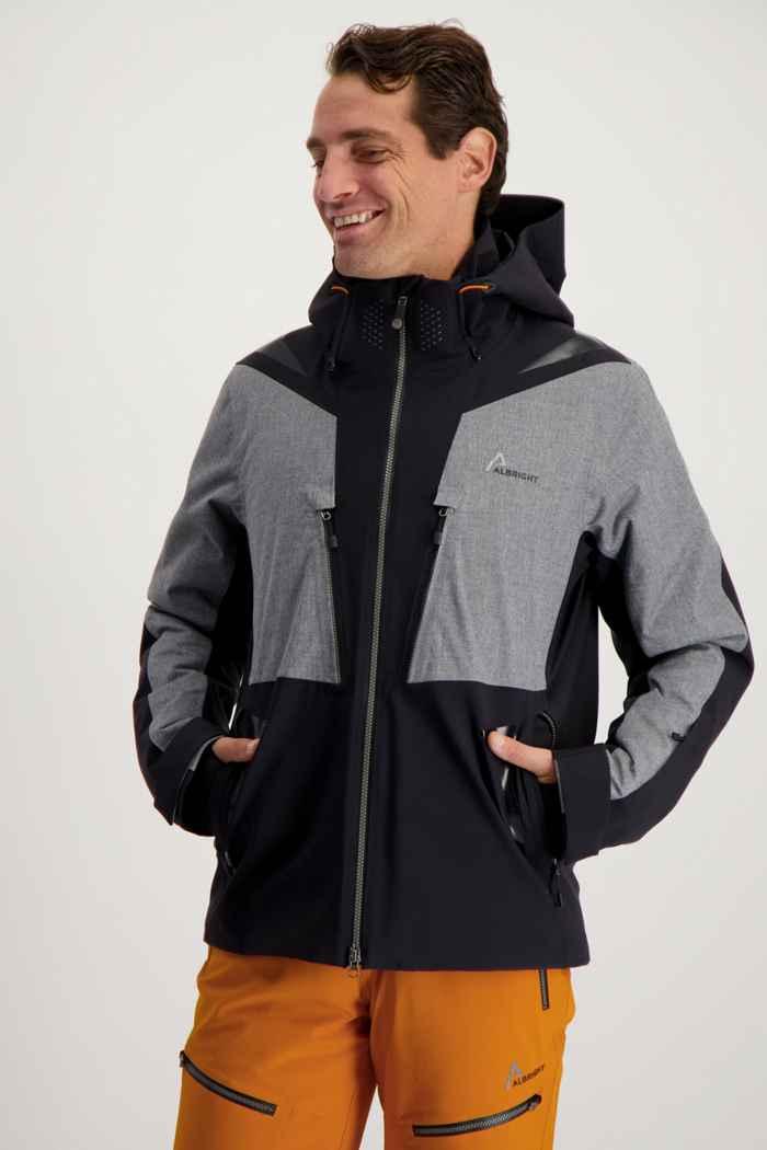 Albright Zermatt Herren Skijacke Farbe Schwarz-grau 1