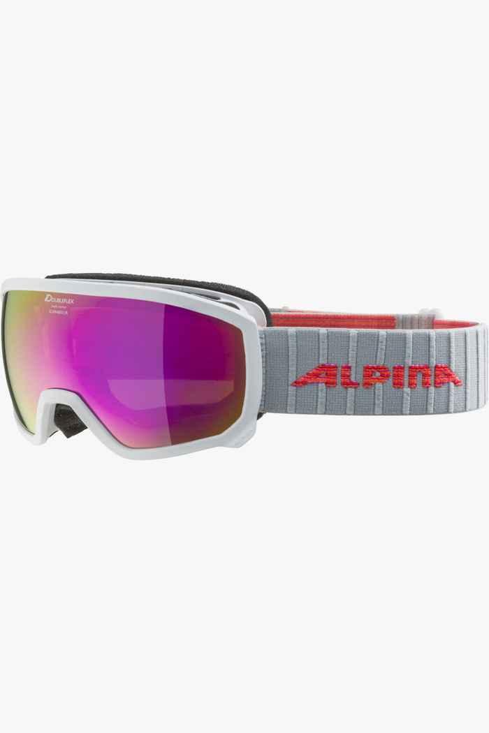 Alpina Scarabeo MM occhiali da sci bambini Colore Bianco 1
