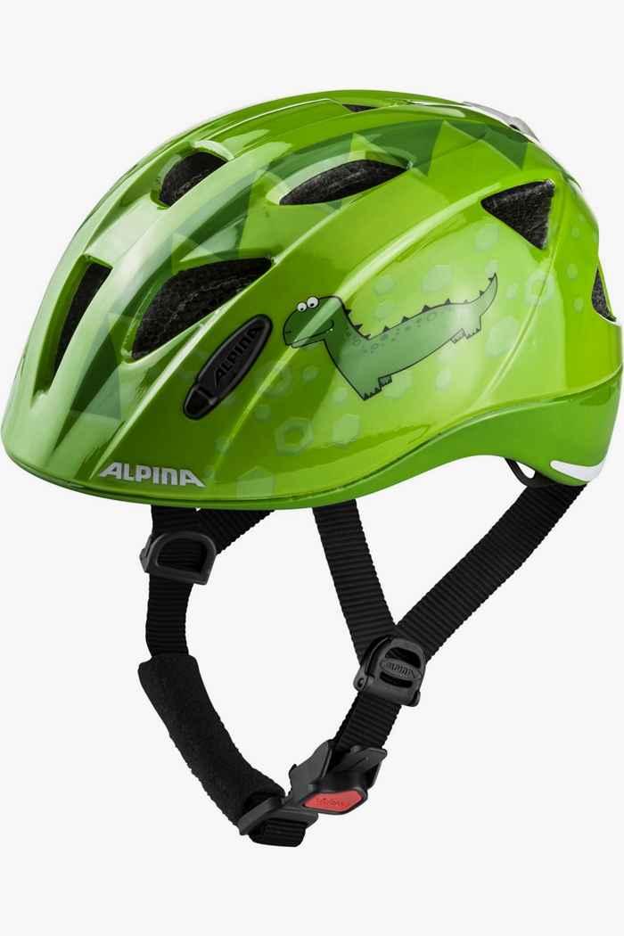 Alpina Ximo Flash Dino casco per ciclista bambini Colore Verde 1