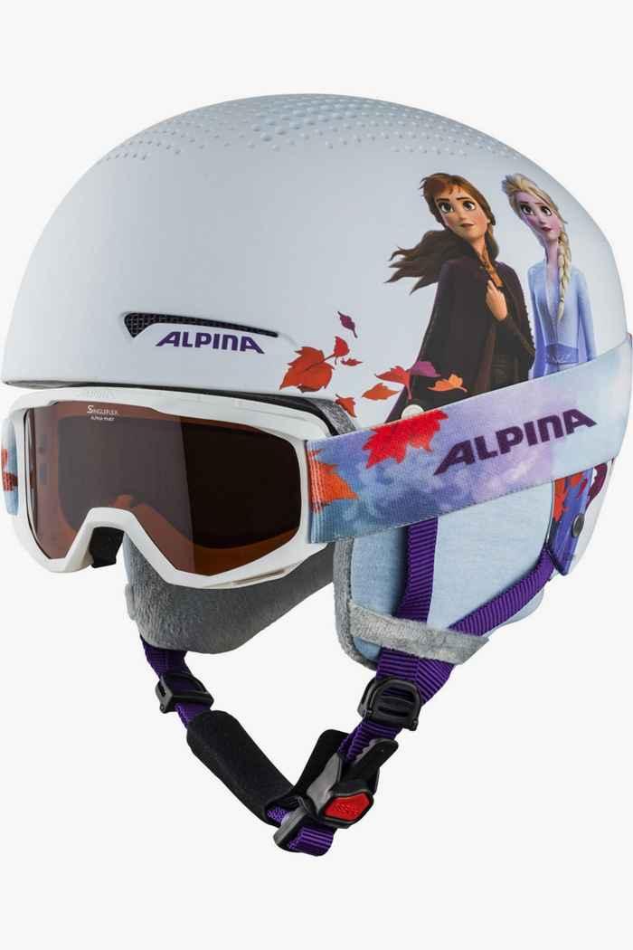 Alpina Zupo Disney casque de ski + masque filles Couleur Blanc 1
