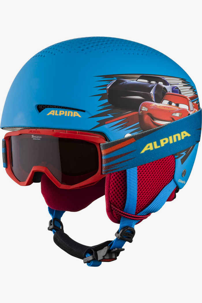 Alpina Zupo Disney casque de ski + masque garçons Couleur Bleu 1