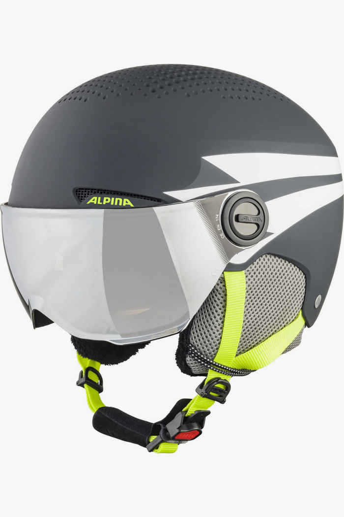 Alpina Zupo Visor casque de ski enfants Couleur Gris 1