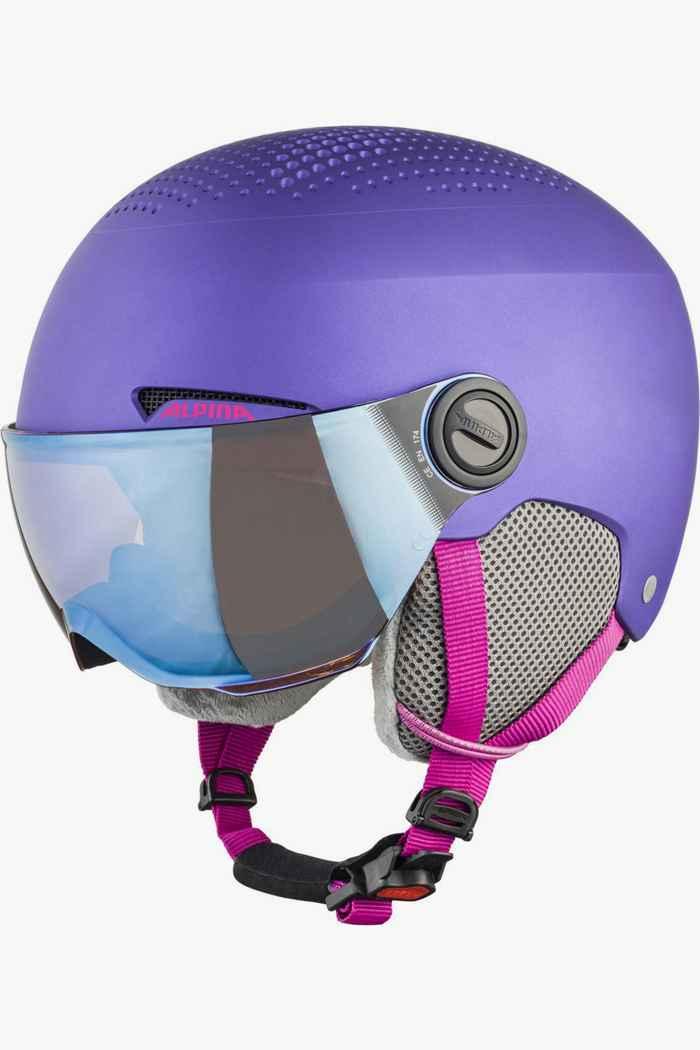 Alpina Zupo Visor casque de ski filles Couleur Violet 1