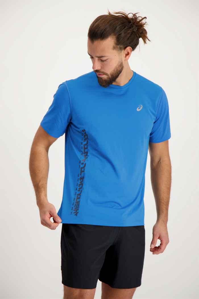ASICS SMSB Run t-shirt hommes Couleur Bleu 1