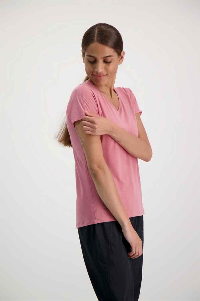 ASICS V-Neck t-shirt femmes Couleur Rose 1