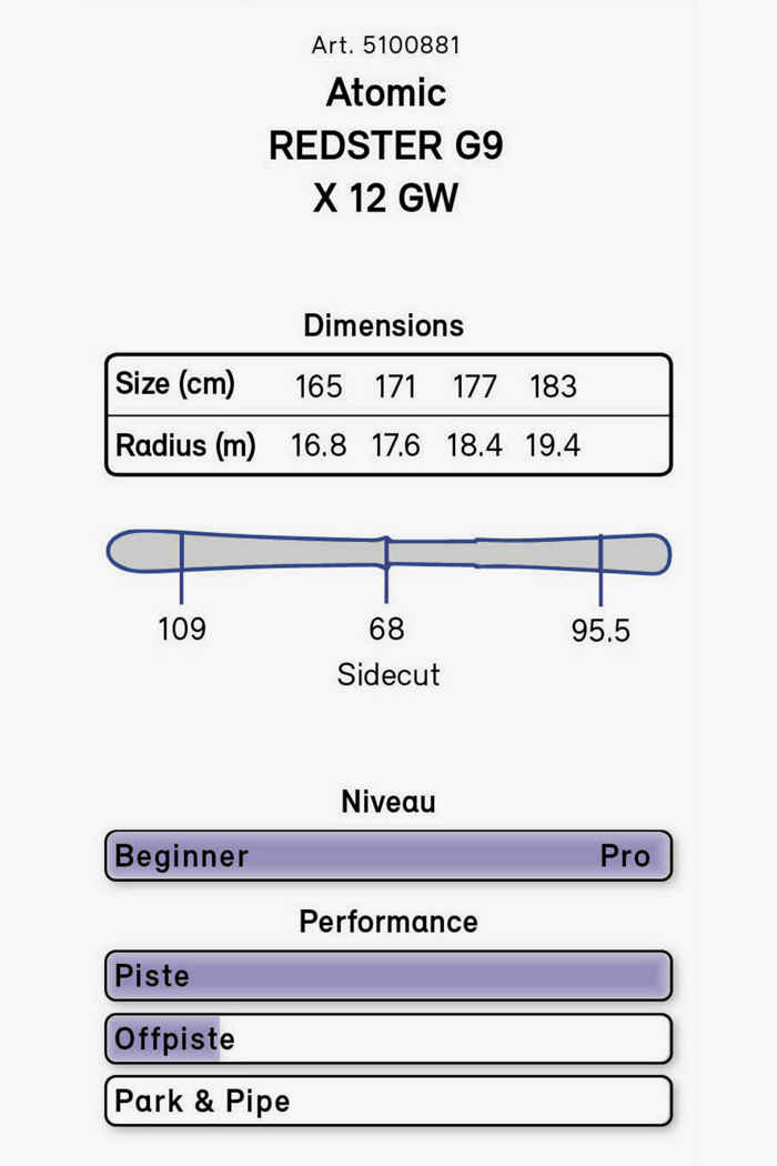 Atomic Redster G9 ski set 21/22 2