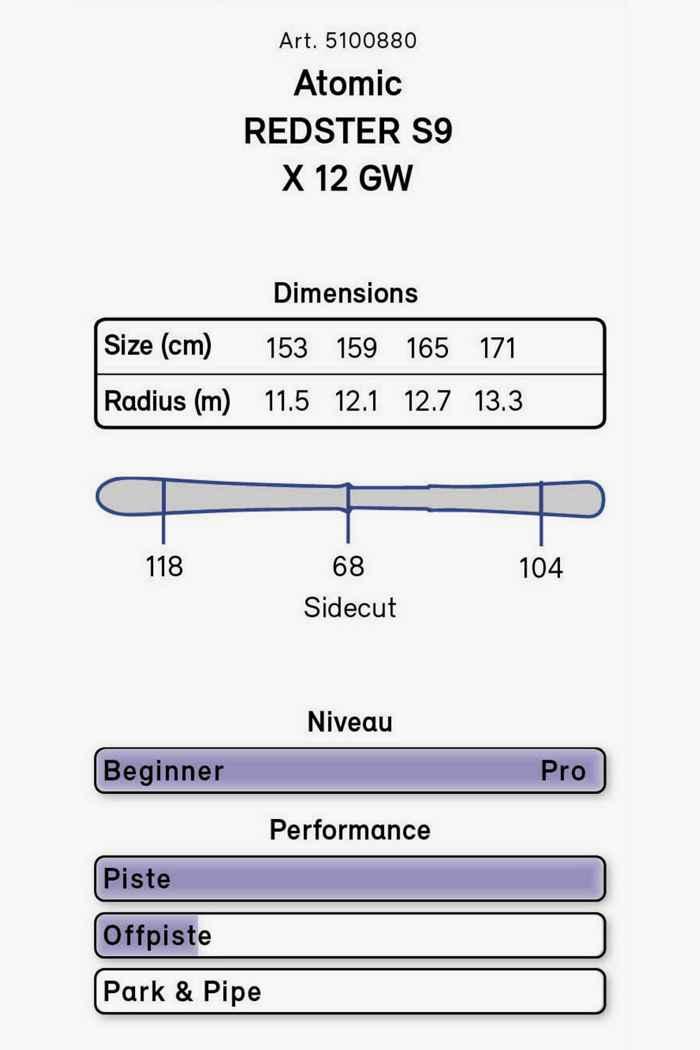 Atomic Redster S9 ski set 21/22 2
