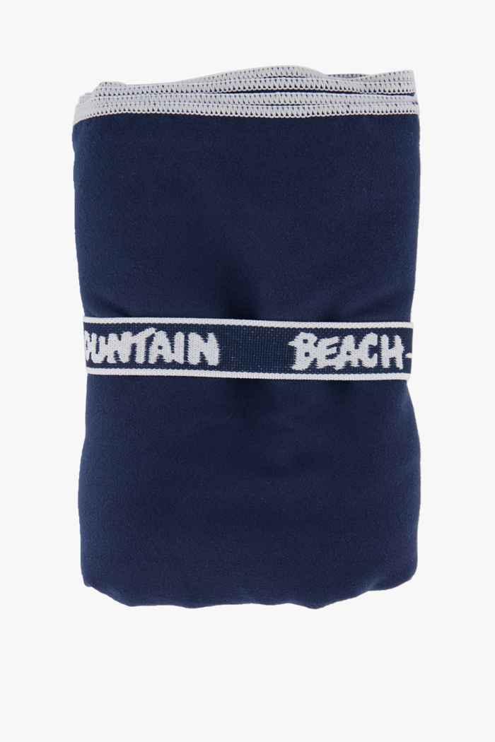 Beach Mountain 110 cm x 175 cm torchon en microfibres Couleur Bleu navy 1