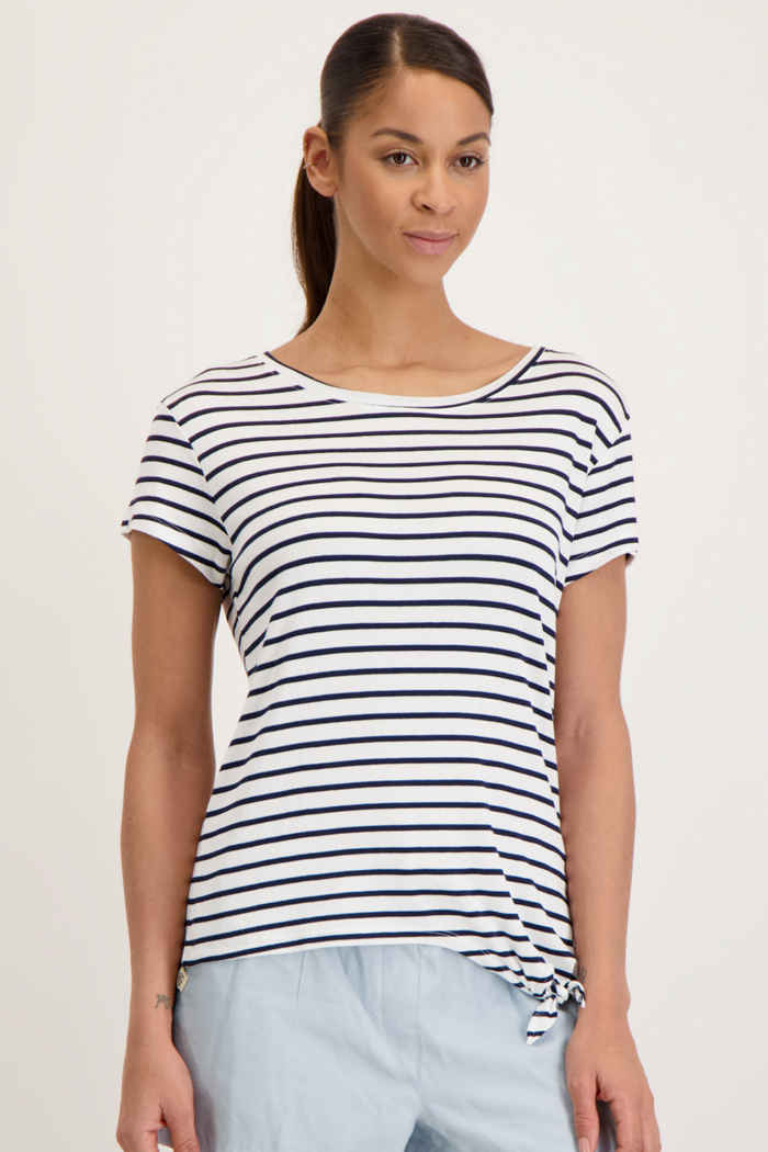 Beach Mountain t-shirt donna Colore Bianco-blu 1
