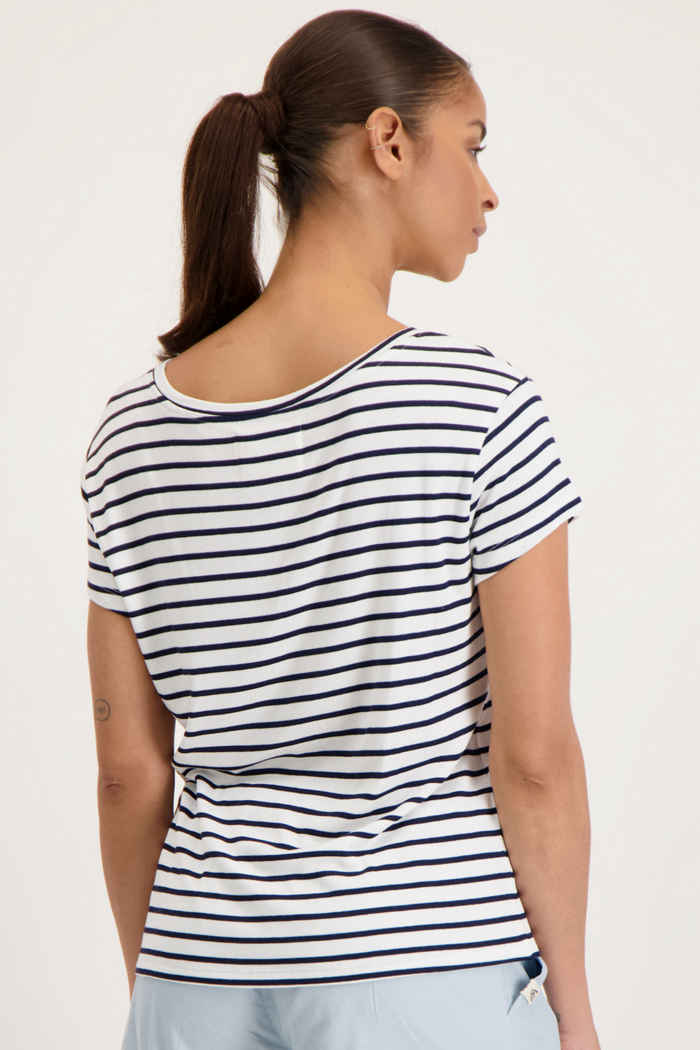 Beach Mountain t-shirt donna Colore Bianco-blu 2