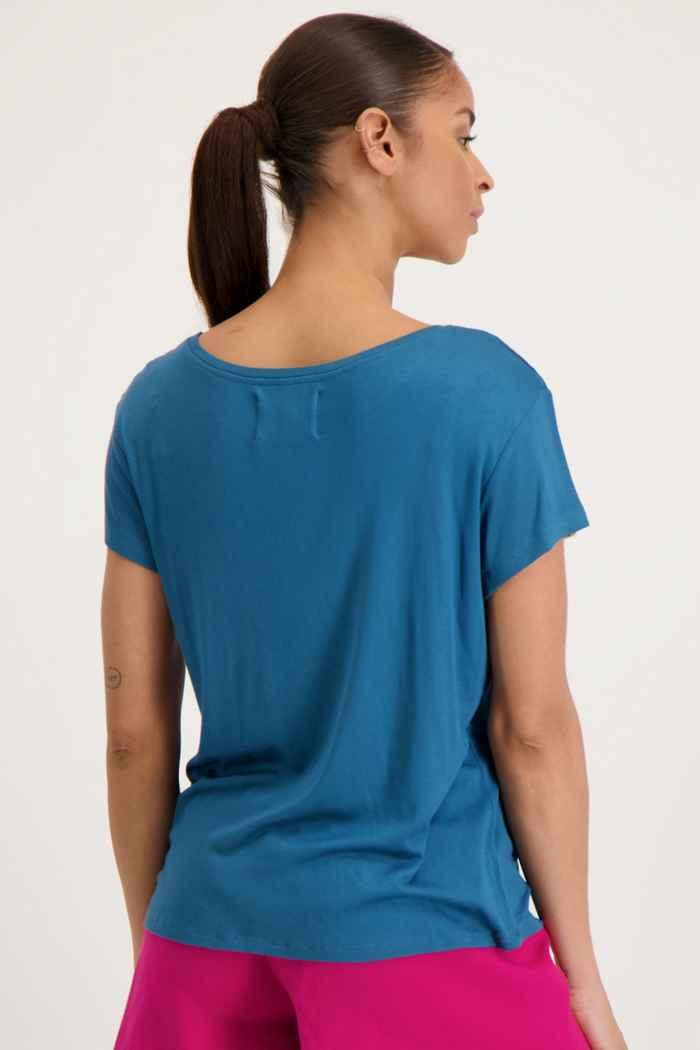 Beach Mountain t-shirt donna Colore Blu petrolio 2