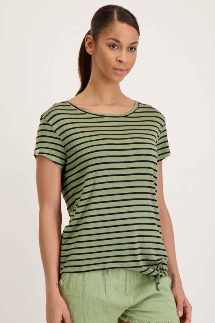 Beach Mountain t-shirt donna Colore Verde oliva 1
