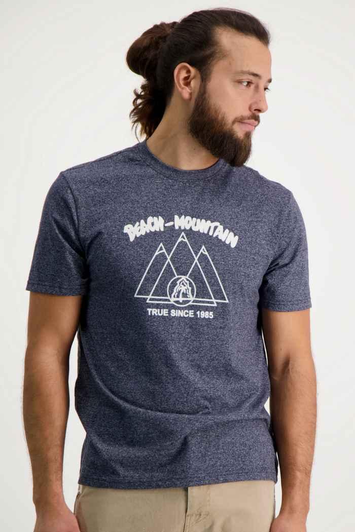 Beach Mountain t-shirt hommes Couleur Bleu navy 1