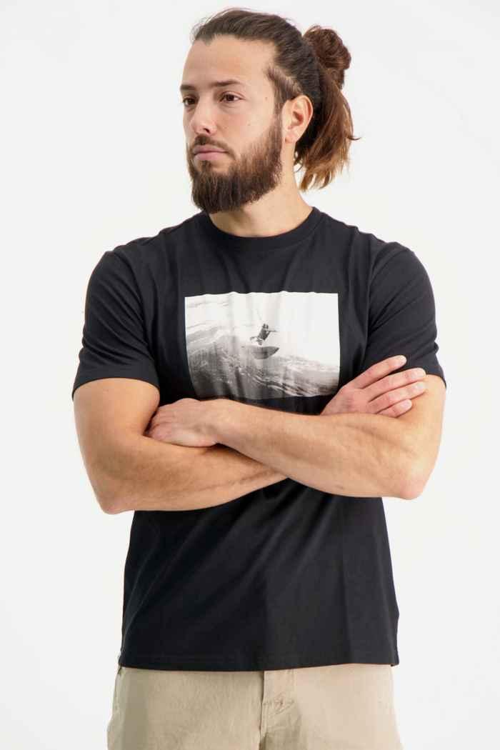 Beach Mountain t-shirt hommes Couleur Noir 1