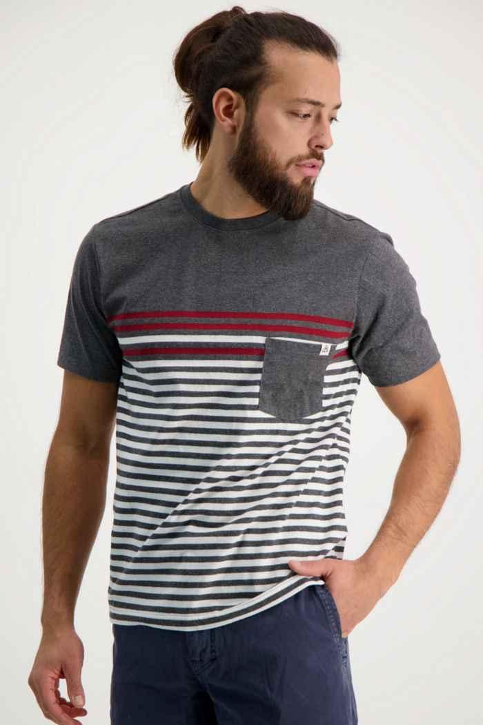 Beach Mountain t-shirt hommes Couleur Noir-blanc 1