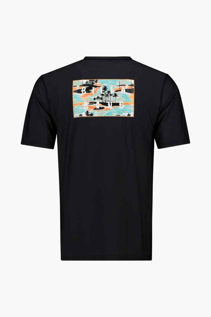Billabong Die Cut 50+ Herren Lycra Shirt Farbe Schwarz 2