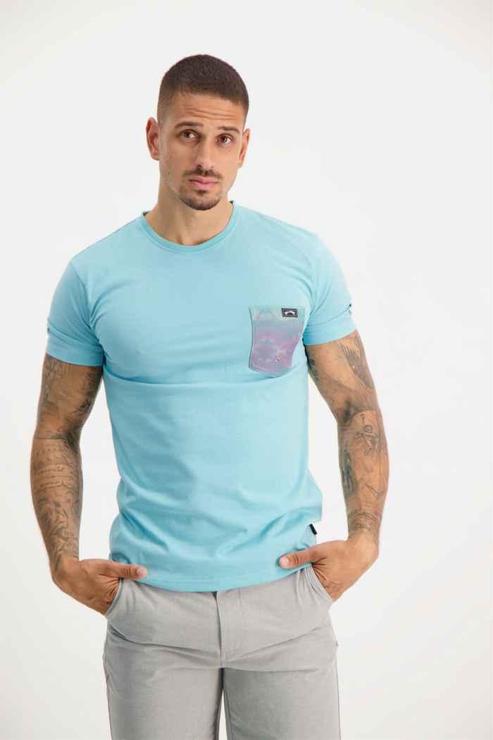 Billabong eam Pocket 50+ lycra shirt hommes Couleur Aqua 1
