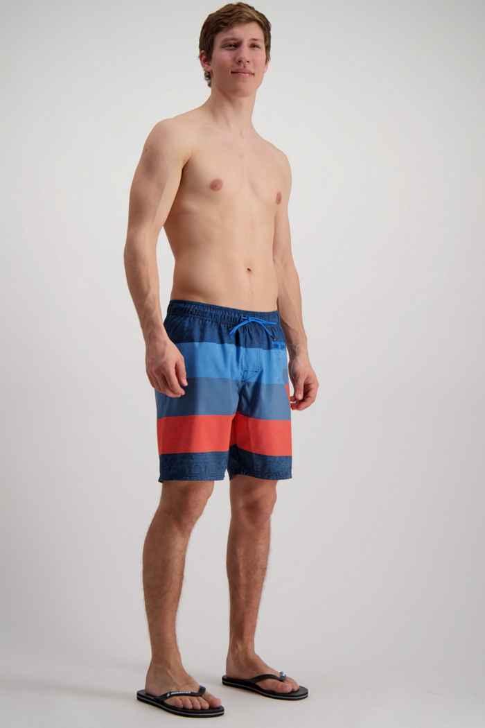 Brunotti Kelvin Herren Badeshort Farbe Blau-rot 1