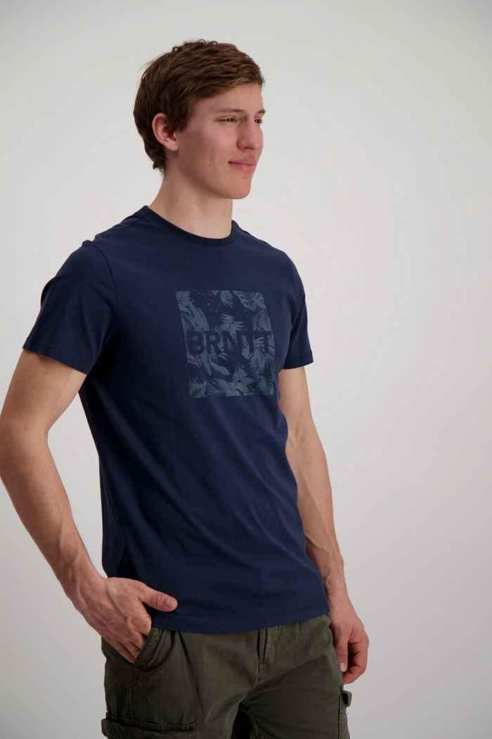 Brunotti Tim Print t-shirt hommes Couleur Bleu navy 1