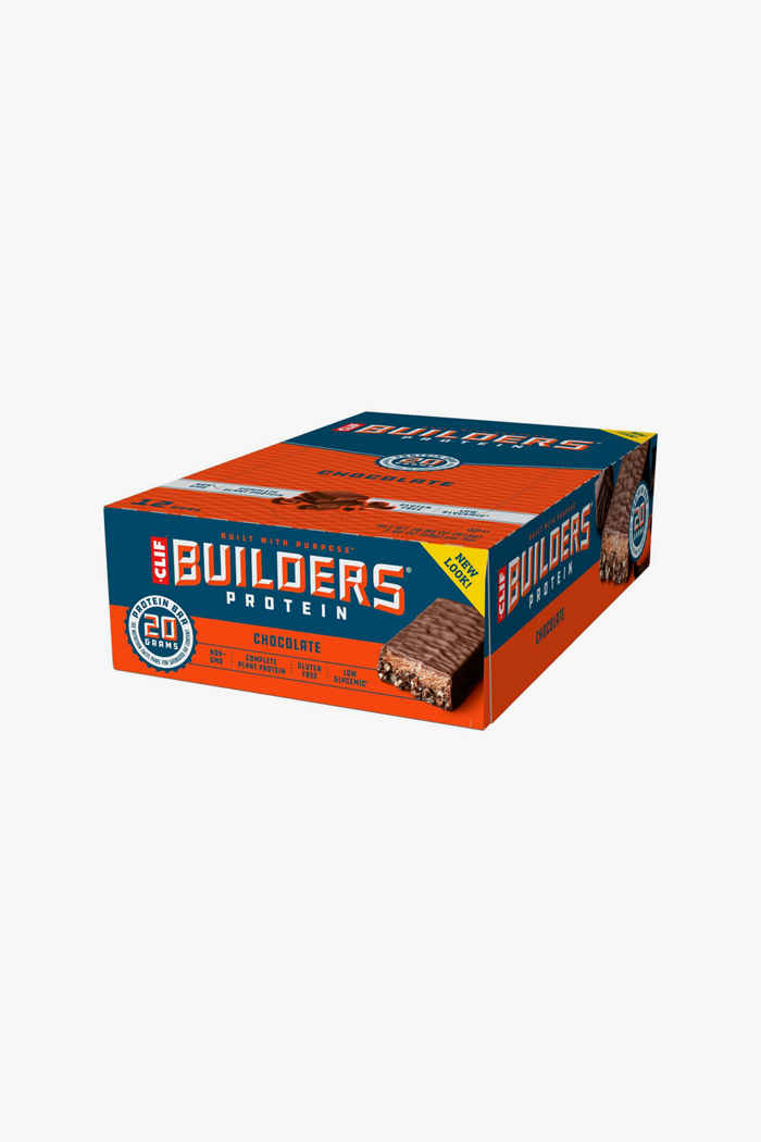 Clif Bar Builders Chocolate 12 x 50 g barretta per lo sport 1