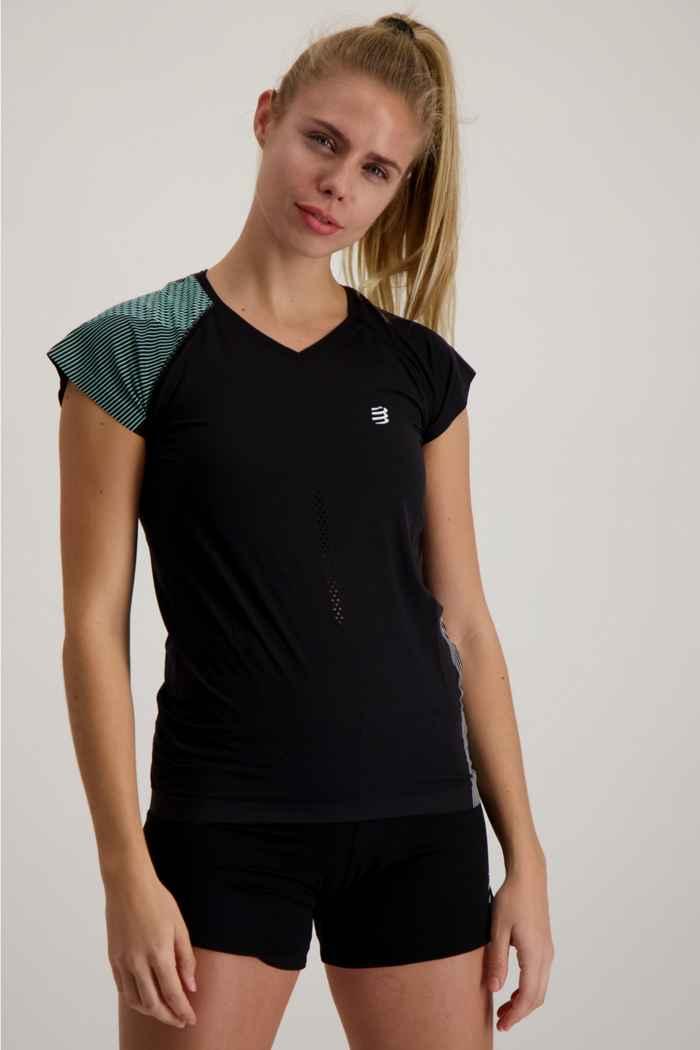 Compressport Performance Damen T-Shirt Farbe Schwarz 1