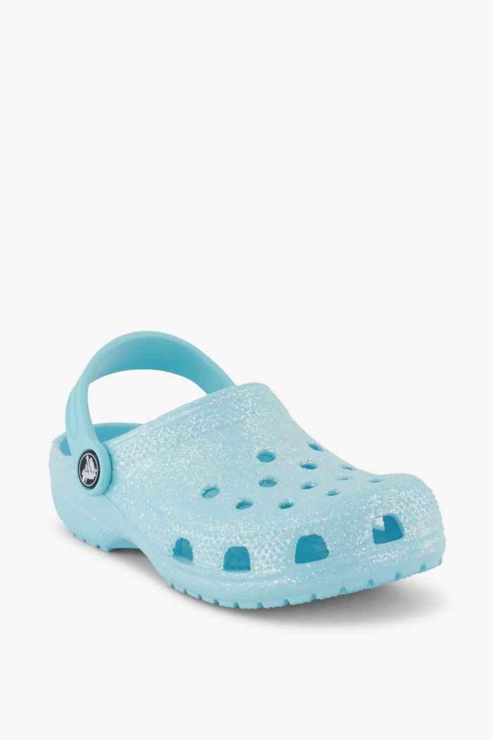 Crocs Classic Glitter Clog slipper bambina Colore Blu 1