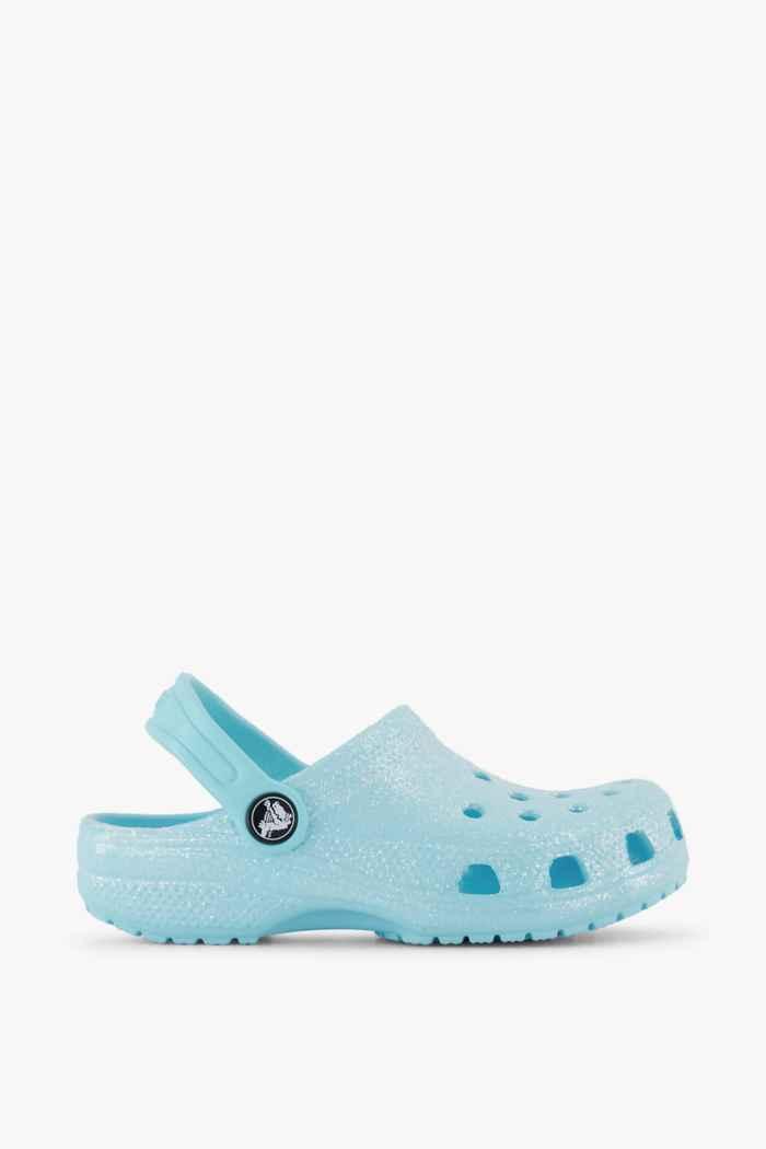 Crocs Classic Glitter Clog slipper bambina Colore Blu 2