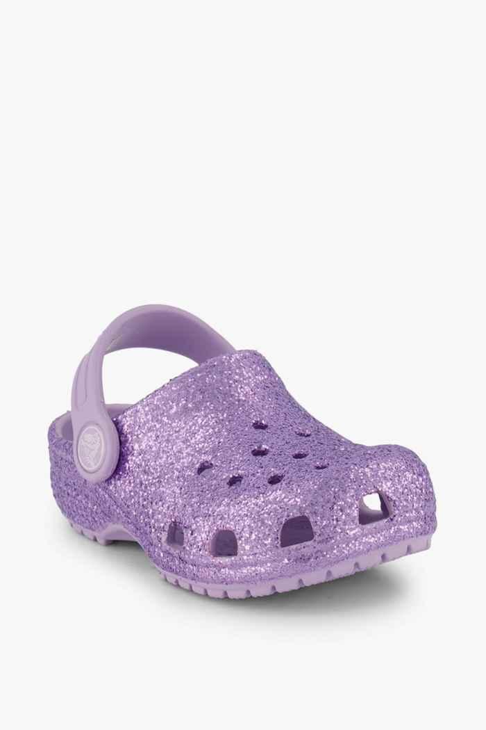 Crocs Classic Glitter Clog slipper bambina Colore Viola chiaro 1